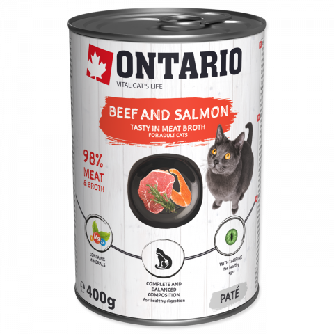 ONTARIO Can Beef, Salmon, Sunflower Oil 400g
