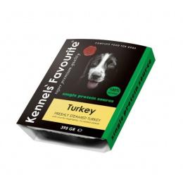 Konservi suņiem - Kennels Favourite Turkey, 395 g