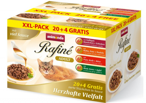 Консервы для кошек - Rafine Adult 20+4 в подарок (соус)