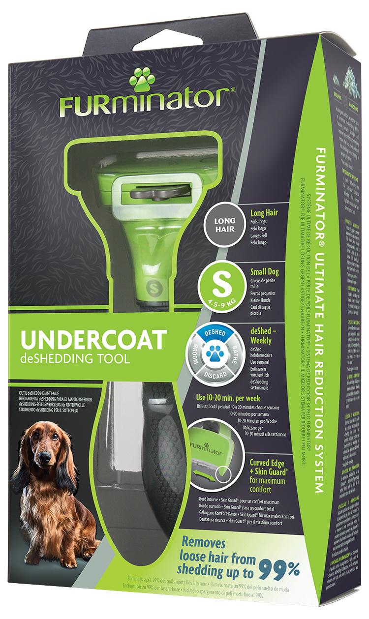 Расческа для собак - FURminator Undercoat deShedding tool, long hair, S