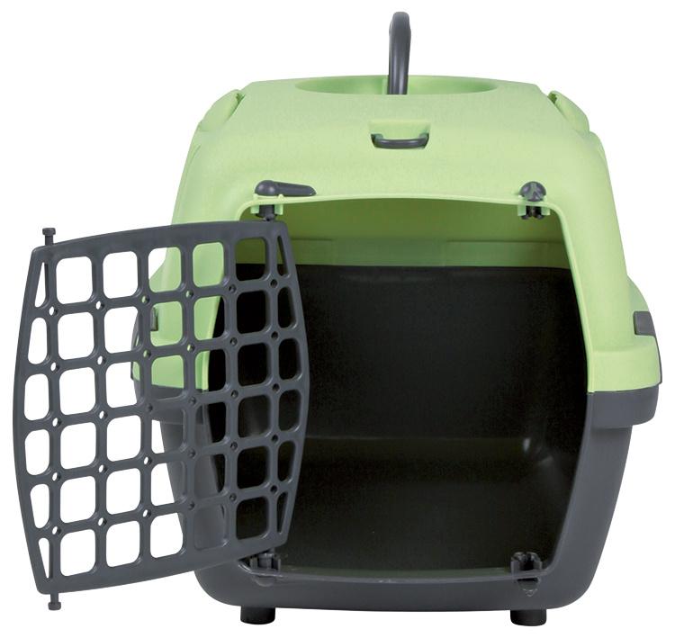 Transportēšanas bokss - Trixie Capri I, 48x32x31 cm, krāsa - tumši zaļa/gaiši zaļa