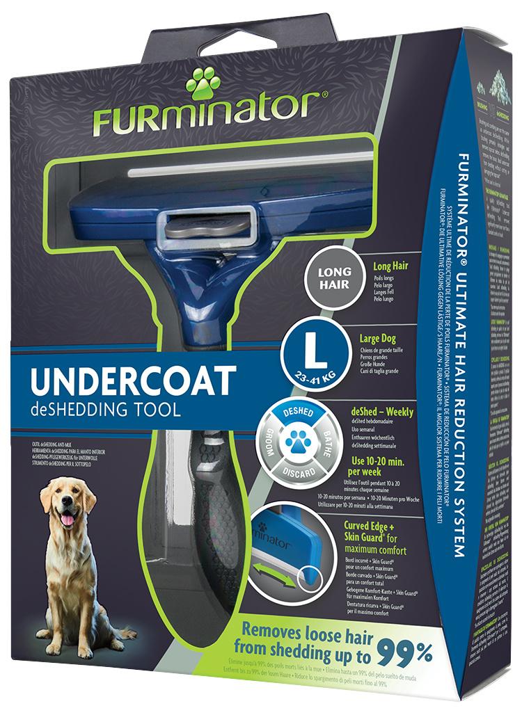 Ķemme suņiem – FURminator Undercoat deShedding Tool, Long Hair, L