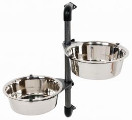 Suņu bļodas ar statīvu - Bowl Stand for Wall Mounting, 2.8 litri