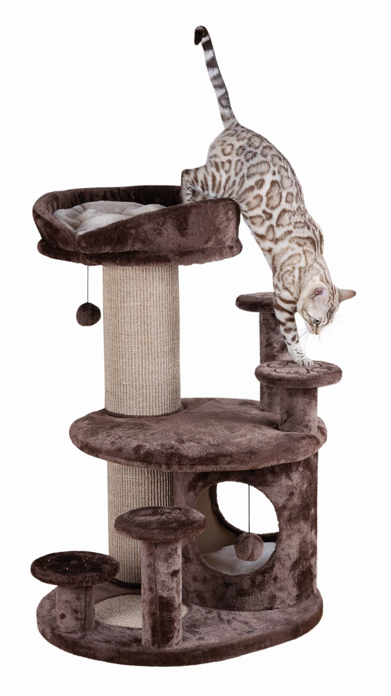Домик для кошек – TRIXIE Emil, Senior Cat Scratching Post, 96 см, Brown/Beige