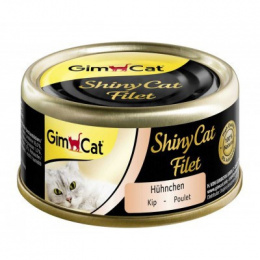 Konservi kaķiem - GimCat ShinyCat Filet Chicken, 70 g