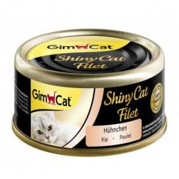 Konservi kaķiem - GimCat ShinyCat Filet Chicken, 70 g