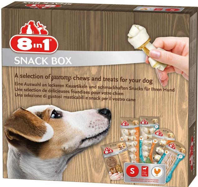 Подарочный набор для собаки - 8in1 Snackbox, S