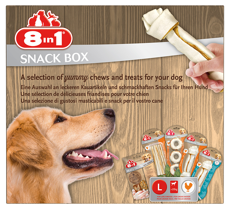 Подарочный набор для собаки - 8in1 Snackbox, L
