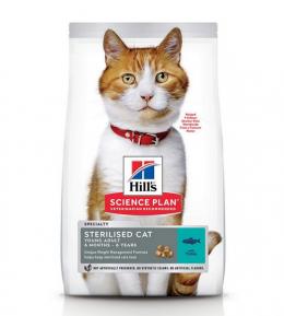 Barība kaķiem - Hill's Feline Sterilised Young Adult ar tunci, 1,5 kg