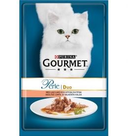 Konservi kaķiem - Gourmet Perle Duo Salmon and Whitefish, 85 g