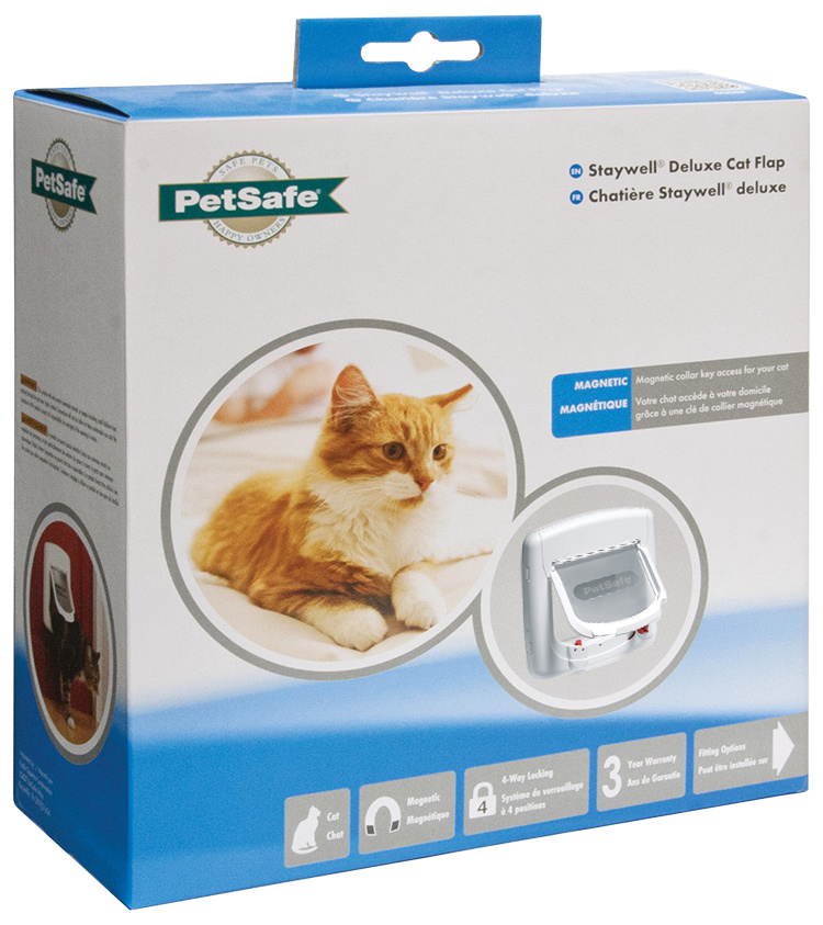 Durvis dzīvniekiem – Staywell, PetSafe, Magnetic Cat Flap, white, 22,4 cm x 22,4 cm