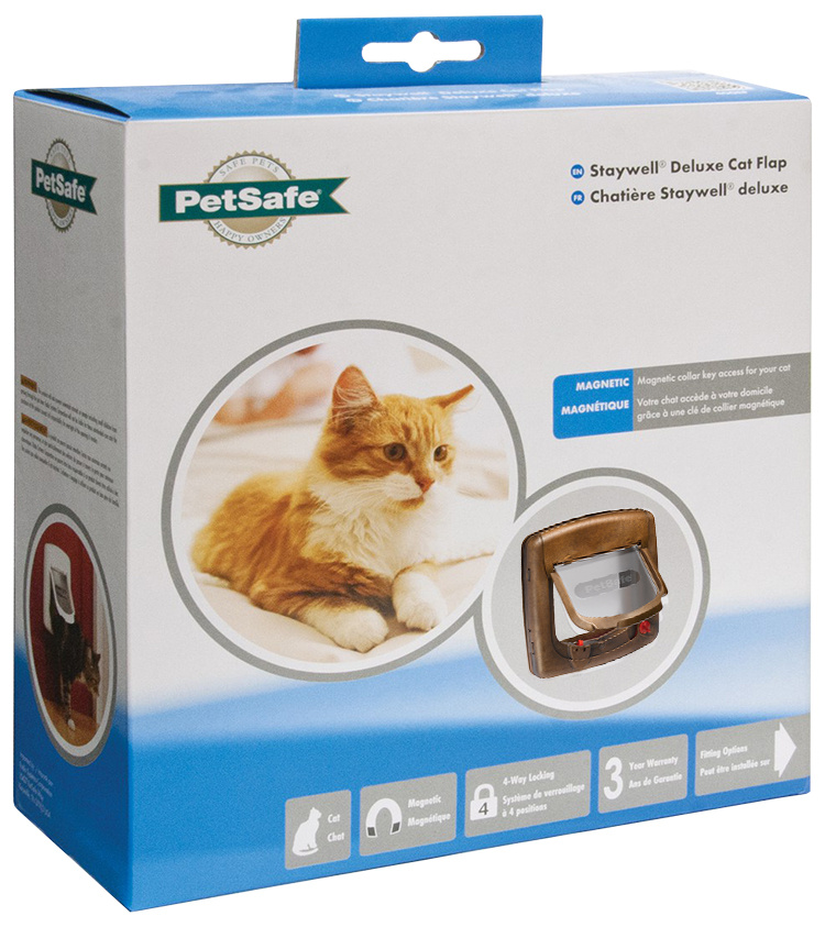 Durvis dzīvniekiem - Staywell Magnetic Cat Flap (brūna)