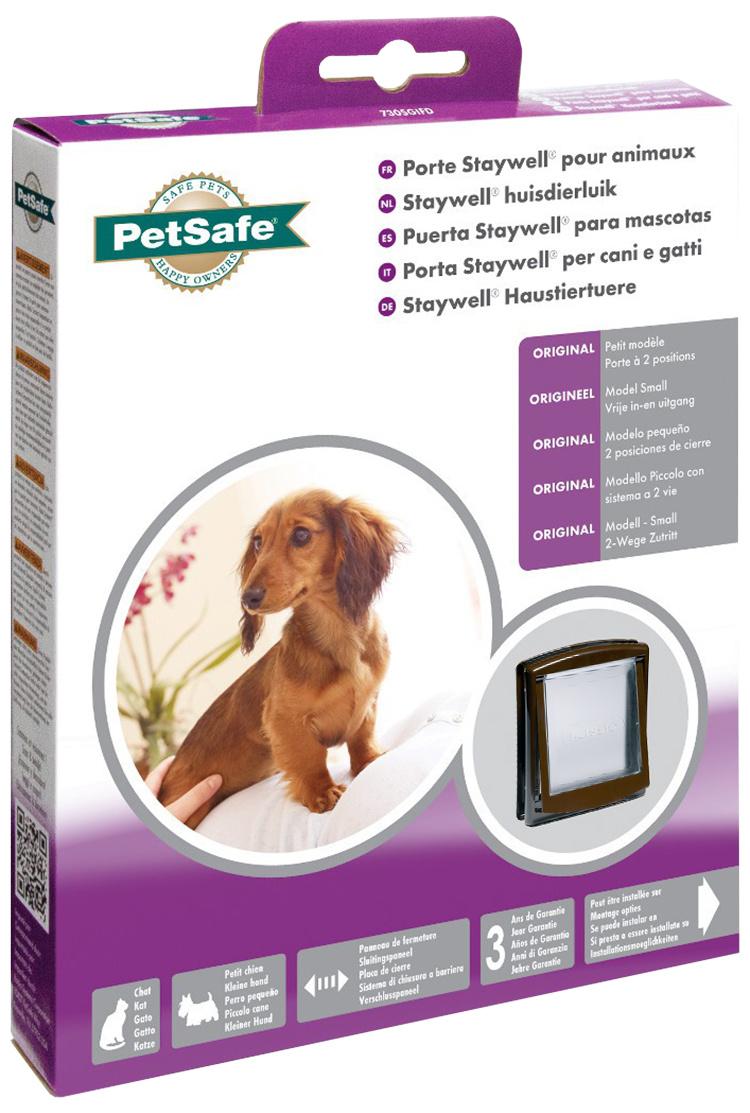 Durvis dzīvniekiem – Staywell, PetSafe, Original Small Pet Door, brown, 23,6 x 19,8 cm