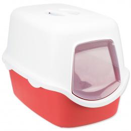 Туалет для кошек - Vico 40*40*56 красный / белый