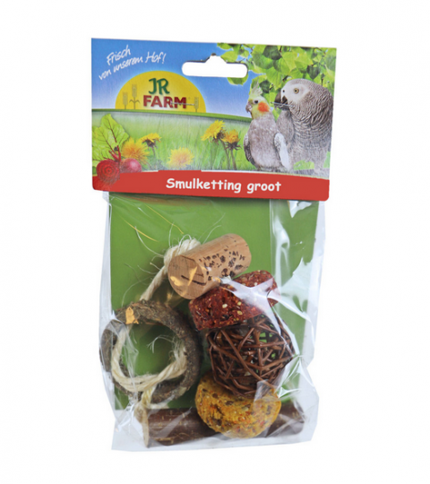 Gardums putniem - JR Birds Natural gourmet string large, 100 g