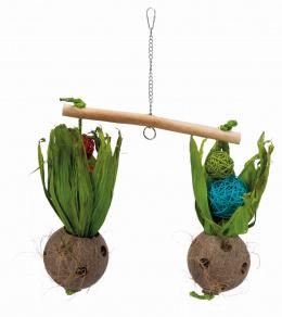 Игрушка для птиц - Seesaw with coconuts, 30 x 50 cm