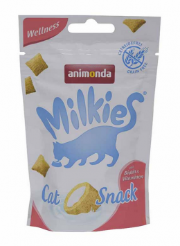 Gardums kaķiem - Milkies Crunchy Pillows Wellness, 30 g