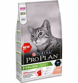 Bar­ība kaķiem - Pro Plan STERILISED Cat Salmon SENSES, 1.5 kg