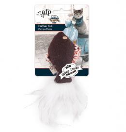 Rotaļlieta kaķiem - All for Paws Vintage Pet Feather Fish