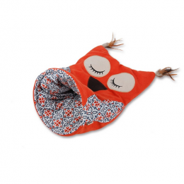 Rotaļlieta kaķiem - All for Paws Vintage Pet Owl Cat Sack, orange