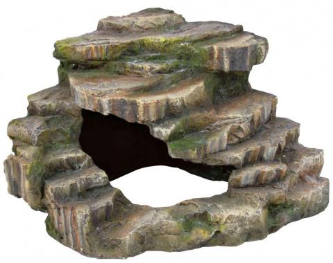 Saliņa reptiļiem - Corner rock with cave and platform