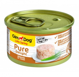 Konservi suņiem - GimDog Little Darling Pure Delight Chicken, 85 g
