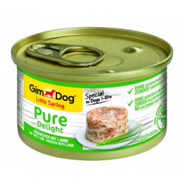 Konservi suņiem - GimDog Little Darling Pure Delight Chicken with Lamb, 85 g