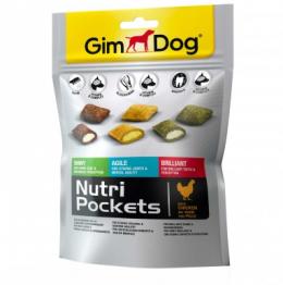 Лакомство для собак - GimDog Nutri Pockets Mix, 150 г