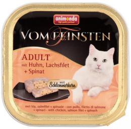 Консервы для кошек - Vom Feinsten Chicken, Salmon and Spinach, 100 г