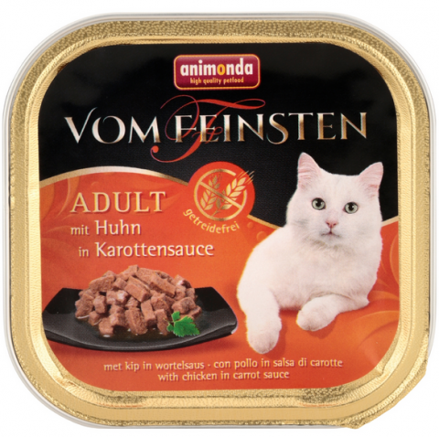 Konservi kaķiem - Vom Feinsten Chicken in Carrot Sauce, 100 g