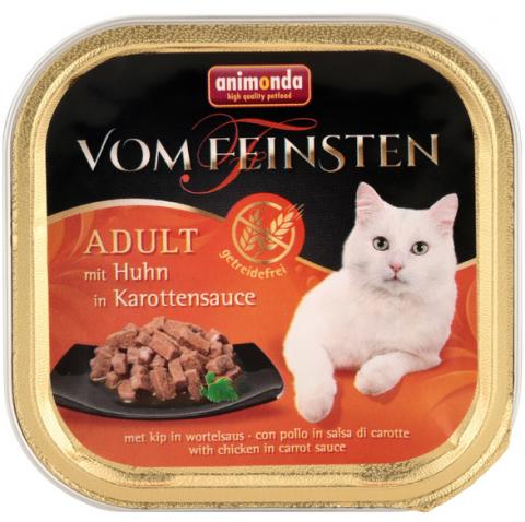 Консервы для кошек - Vom Feinsten Chicken in Carrot Sauce, 100 г