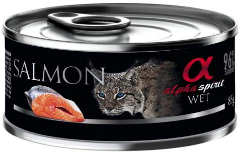 Konservi kaķiem - Alpha Spirit Salmon, 85 g