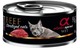 Консервы для стерилизованных кошек - Alpha Spirit Beef, 85 г