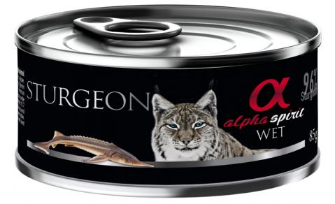 Konservi kaķiem - Alpha Spirit Sturgeon, 85 g