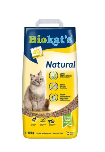Smiltis kaķu tualetei - Biokats Natural, 10 kg title=