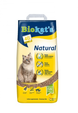 Smiltis kaķu tualetei - Biokats Natural, 5 kg