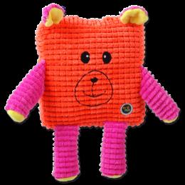 Rotaļlieta suņiem - Be Fun Calypso Square Bear, orange, 17.5 cm