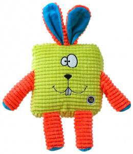 Rotaļlieta suņiem - Be Fun Calypso Square Rabbit, green, 17.5 cm