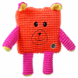 Игрушка для собак - Be Fun Calypso Square Bear, orange, 12.5 см