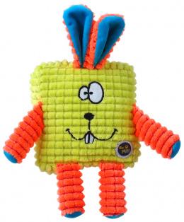 Rotaļlieta suņiem - Be Fun Calypso Square Rabbit, green, 12.5 cm