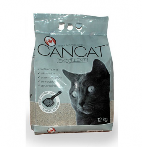 Песок для кошачьего туалета - CanCat with BabyPowder, 12 кг