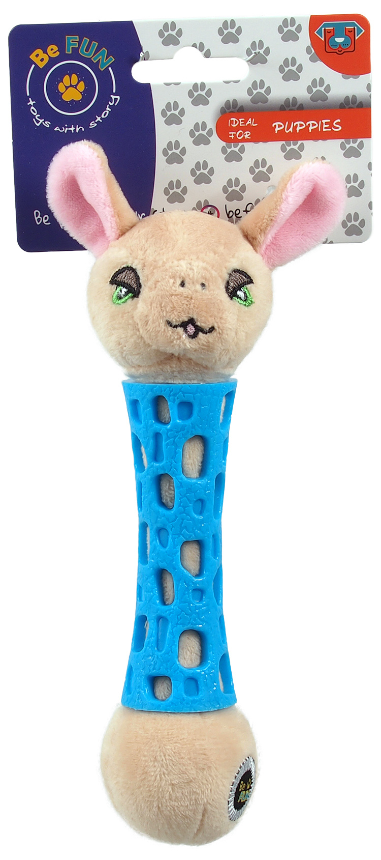 Игрушка для собак – Be Fun TPR toy + Plush Sheep, 17 см