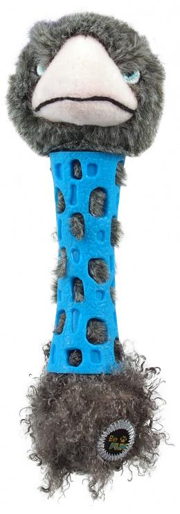 Rotaļlieta suņiem - Be Fun TPR toy + Plush Ostrich, 17 cm