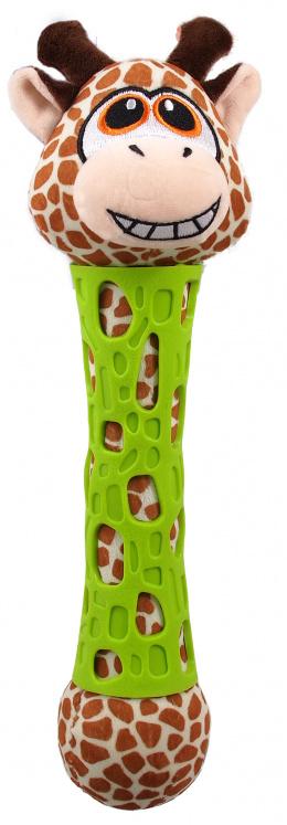 Rotaļlieta suņiem - Be Fun TPR toy + Plush Giraffe, 39 cm
