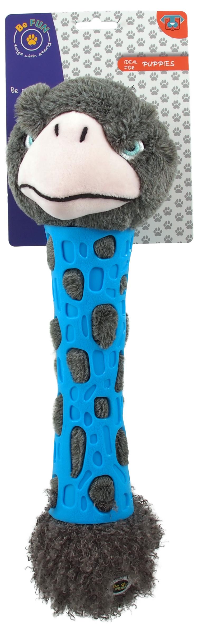 Игрушка для собак – Be Fun TPR toy + Plush Ostrich, 38 см