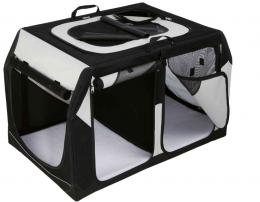 Транспортировочный бокс для животных - Trixie, Vario Double Mobile Kennel, S, 91 x 60 x 61 см, black/grey