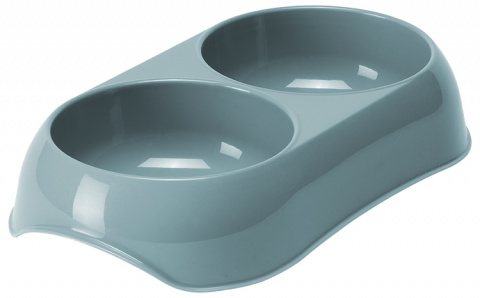 Bļoda kaķiem – MAGIC CAT, Double Plastic Bowl, 2 x 200 ml, Blue title=