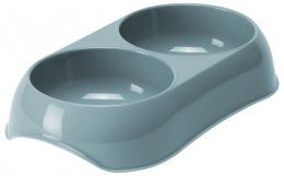 Bļoda kaķiem – MAGIC CAT, Double Plastic Bowl, 2 x 200 ml, Blue