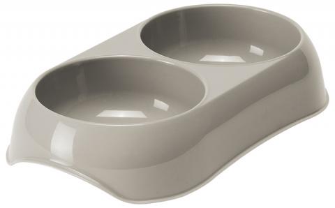 Bļoda kaķiem – MAGIC CAT, Double Plastic Bowl, 2 x 200 ml, Grey title=