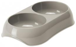 Bļoda kaķiem – MAGIC CAT, Double Plastic Bowl, 2 x 200 ml, Grey